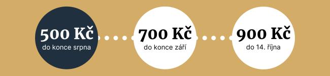 Za 500 Kč pouze do konce srpna